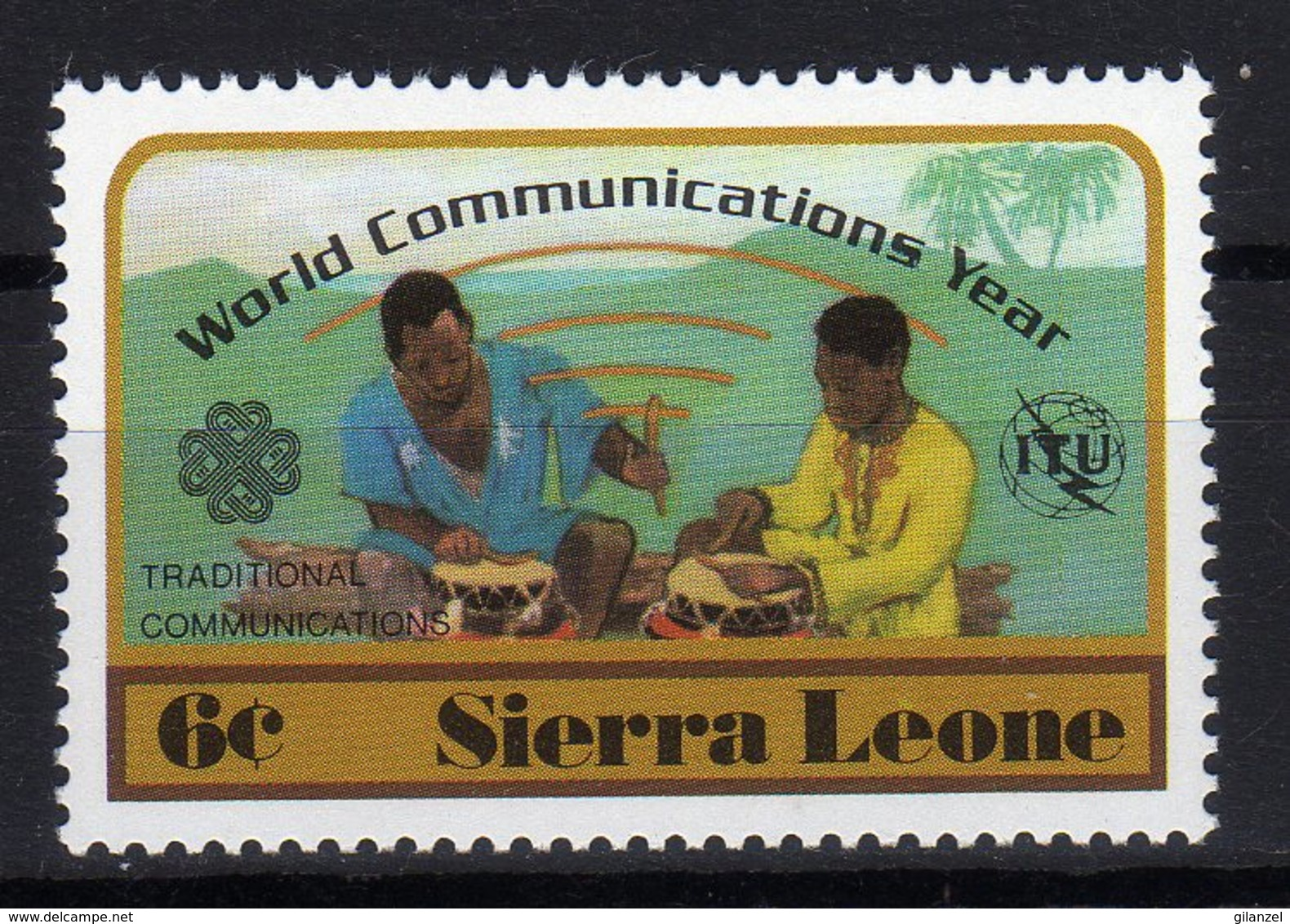 Sierra Leone 1983 World Communications Year ITU UIT 1 Val MNH - Sierra Leone (1961-...)