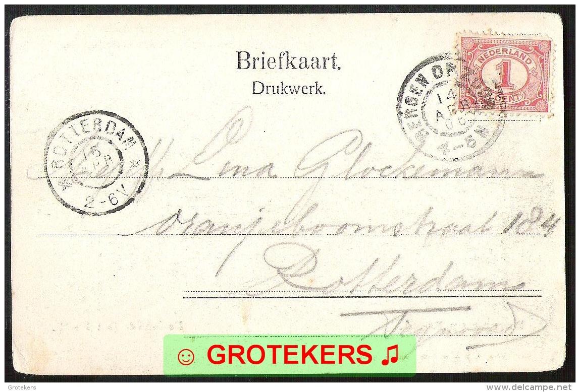 BERGEN OP ZOOM De Schelde Met Binnenkomende Vissersboot BZ 51 1906 - Bergen Op Zoom