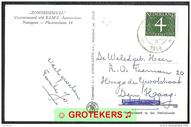 NUNSPEET Zonneheuvel Vacantieoord Van De B.I.M.Z. 1958 KLM Foto - Nunspeet