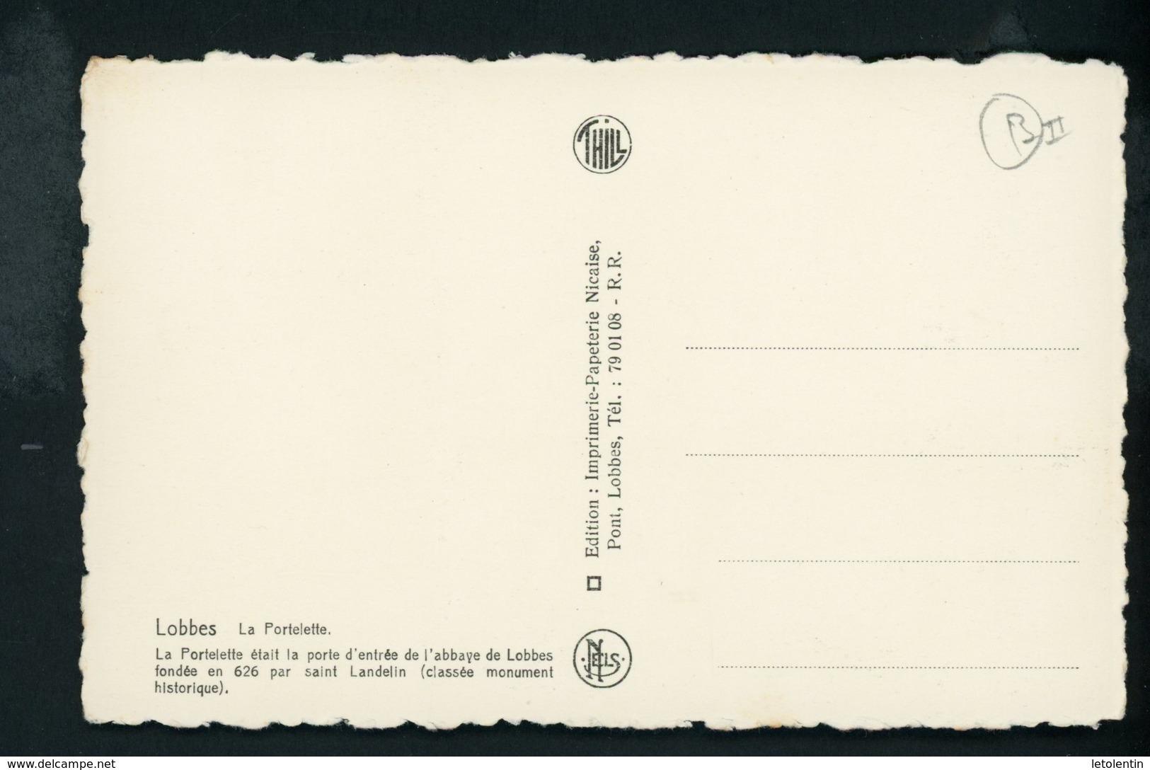 CPA: B - LOBBES - LA PORTELETTE - Lobbes
