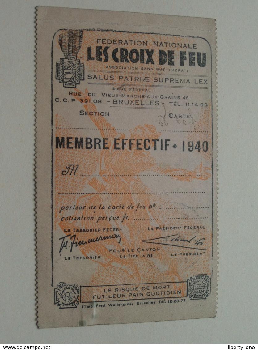 VUURKRUISENBOND ( Membre / Werkelijk LID 1940 - Afd. M.26 - N° 055822 - Moelans St. Denis-Westrem ) LES CROIX DE FEU ! - Documents