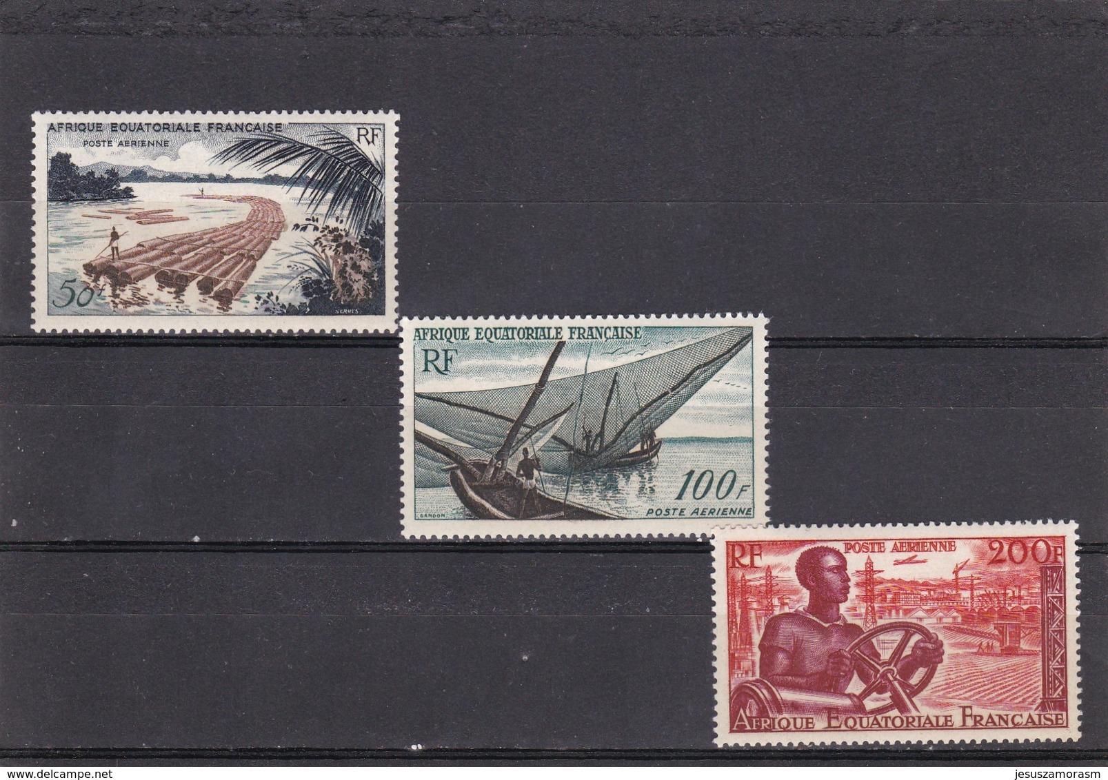 Africa Ecuatorial Francesa Nº A58 Al A60 - A.E.F. (1936-1958)