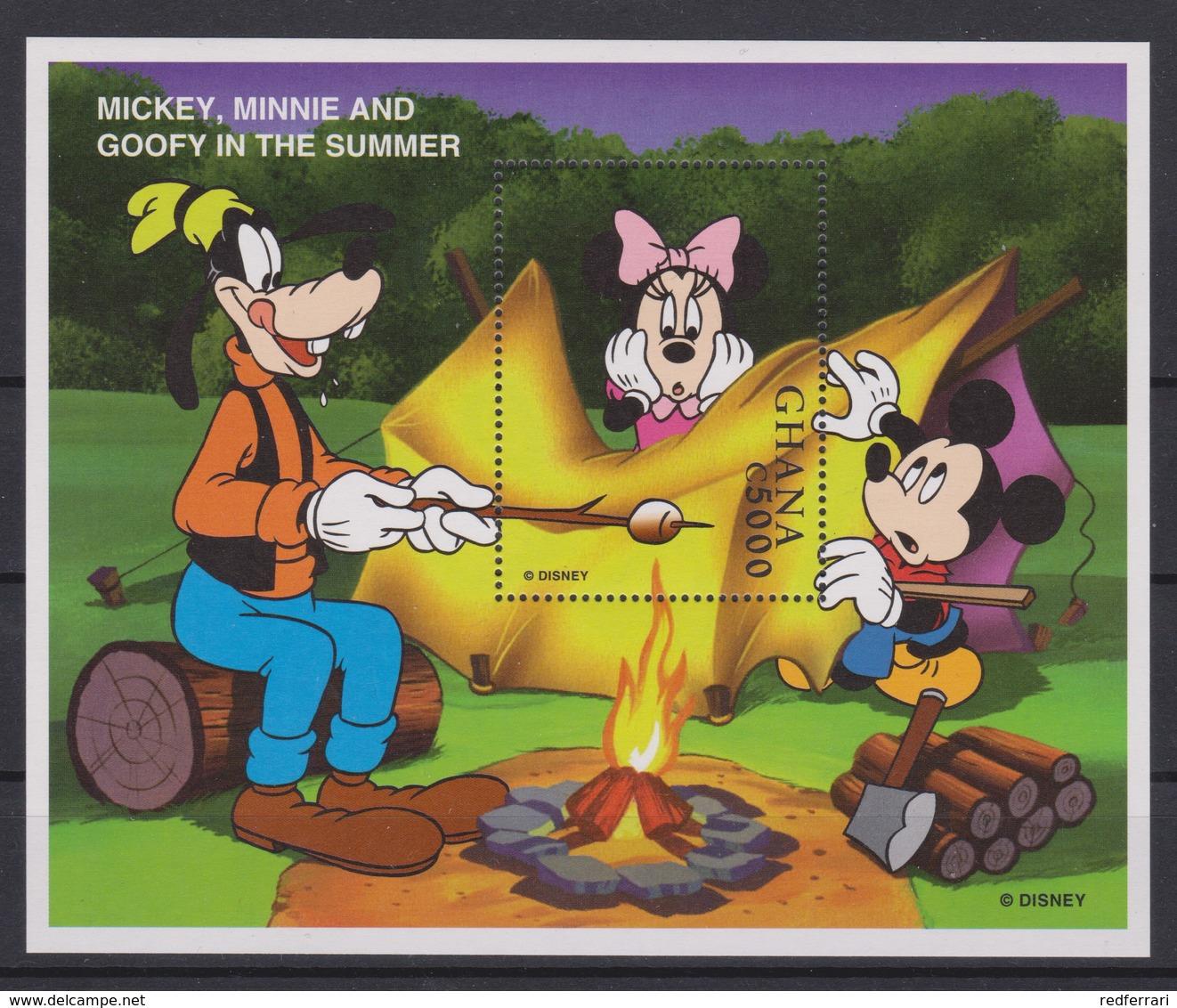 2245  Walt Disney - GHANA  ( Mickey In Spring / Mickey , Minnie And Goofy In The Summer ) - Disney