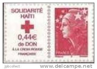 France Adhésif Haiti Adhésif 0,56 + 0,44 N° 388 - Adhésifs (autocollants)