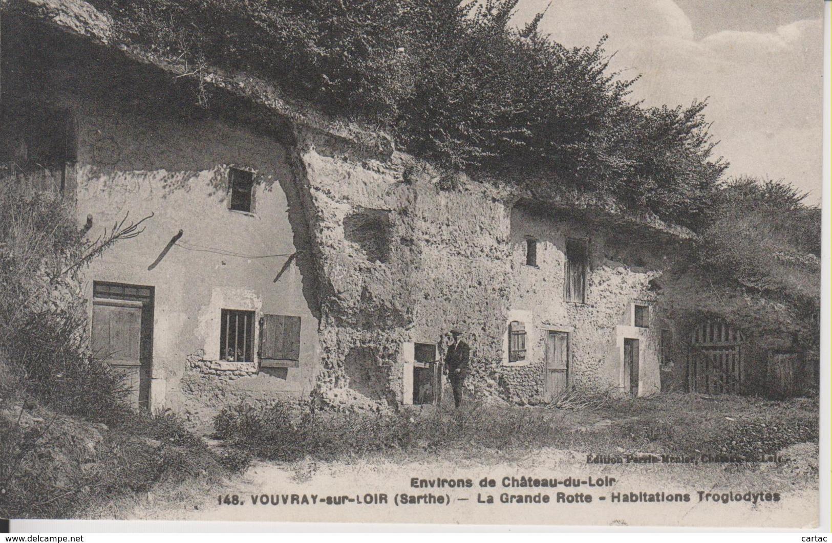 D72 - VOUVRAY SUR LOIR - LA GRANDE ROTTE - HABITATIONS TROGLODYTES - France