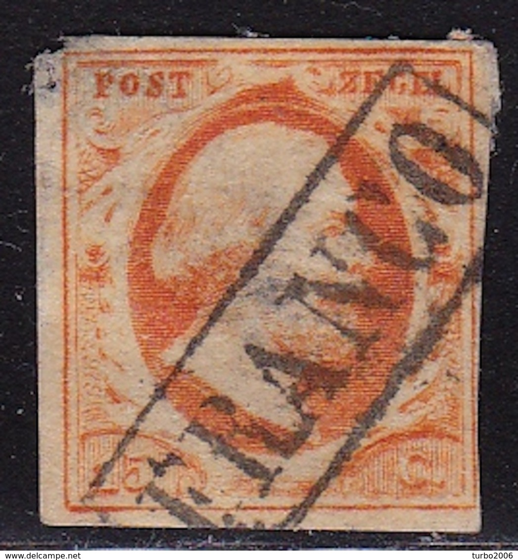 1864 Koning Willem III 15 Cent Oranje Ongetand NVPH 3 (albumvuller) - Periode 1852-1890 (Willem III)
