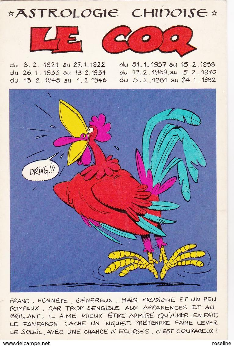 MULATIER  Ed Dervish - Astrologie Chinoise N°10  Humour Coq - CPM  10,5x15 BE Neuve - Illustrators & Photographers