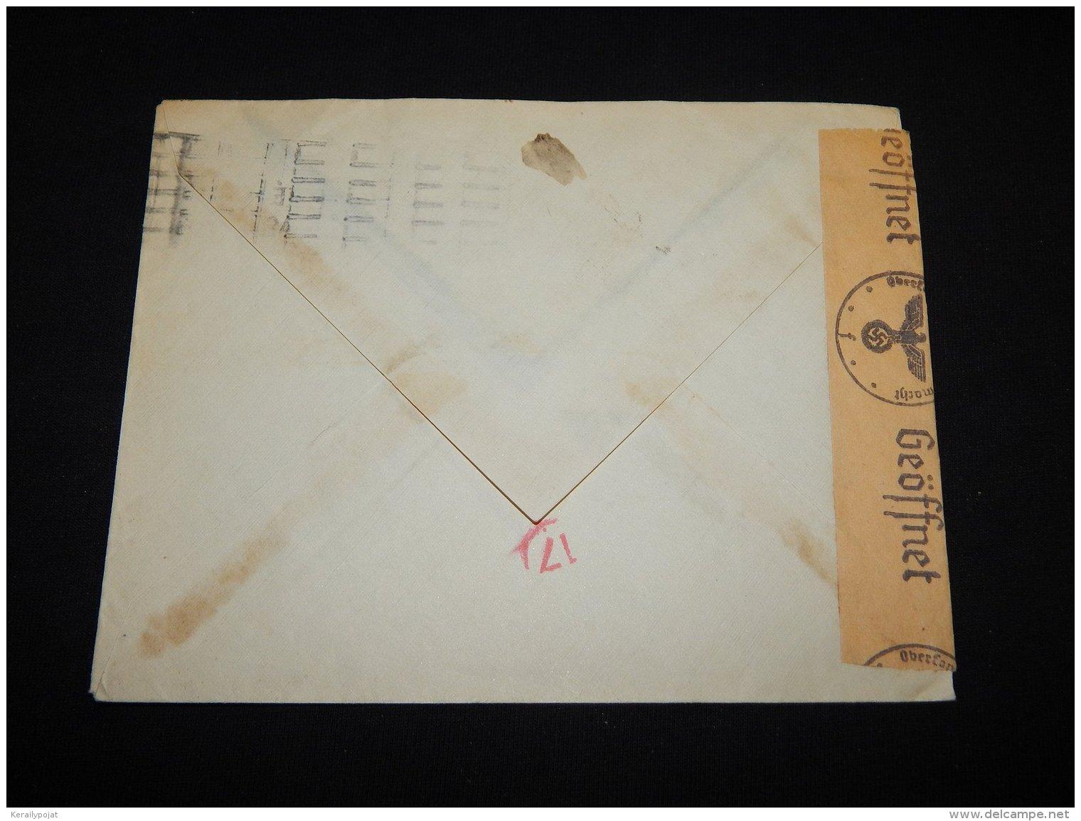 France 1942 Censored Cover To Denmark__(L-19004) - Storia Postale