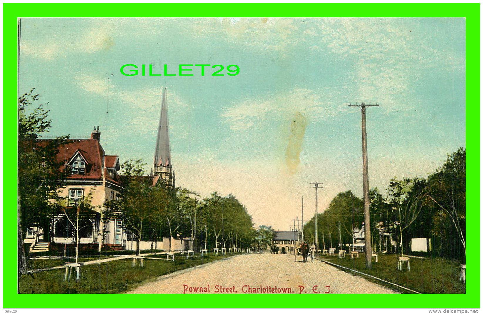 CHALOTTETOWN, P.E.I. - POWAL STREET - ANIMATED -  THE PUGH MFG CO LTD - - Charlottetown