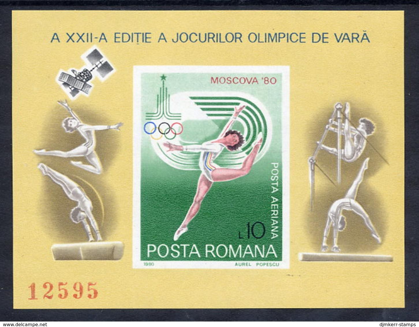 ROMANIA 1980 Olympic Games Block MNH / ** .  Michel Block 172 - Blocks & Sheetlets