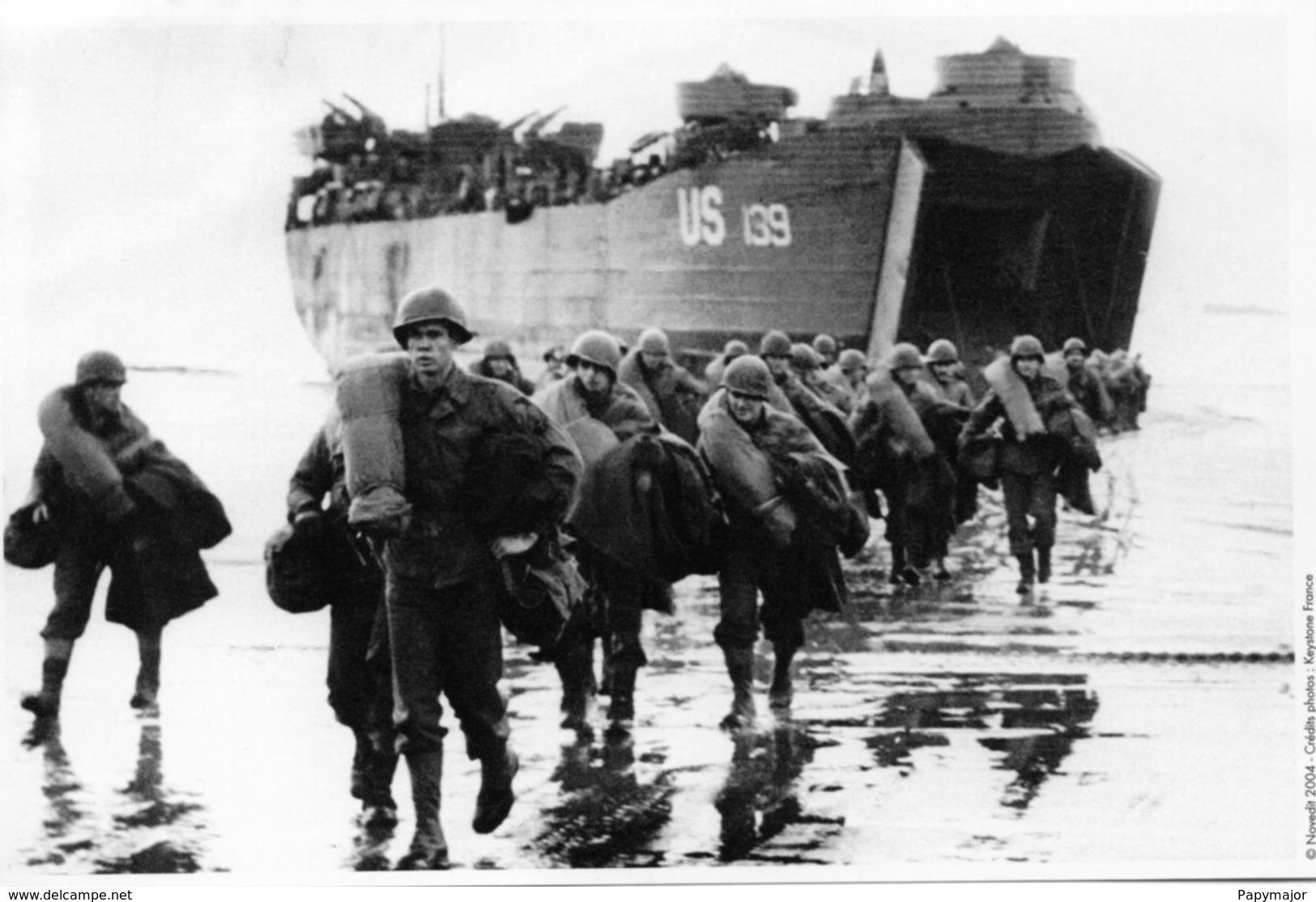 Militaria WW2  -  Photo De Presse - Arrivée De Renforts à Omaha Beach - 1939-45