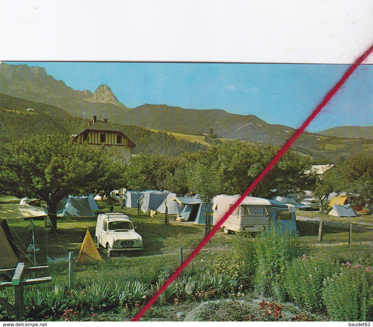 "CP  04  -  BARCELONNETTE  -  ""PEYRA-CAMPING""  Camping Familial Et Amical - Barcelonnette"