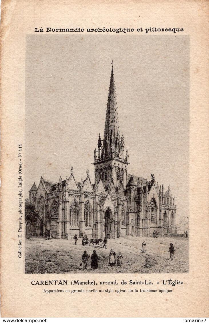 CARENTAN LES MARAIS - La Normandie Archéologique Et Pittoresque Carentan Arrondissement De Saint Lô L'Eglise - Carentan