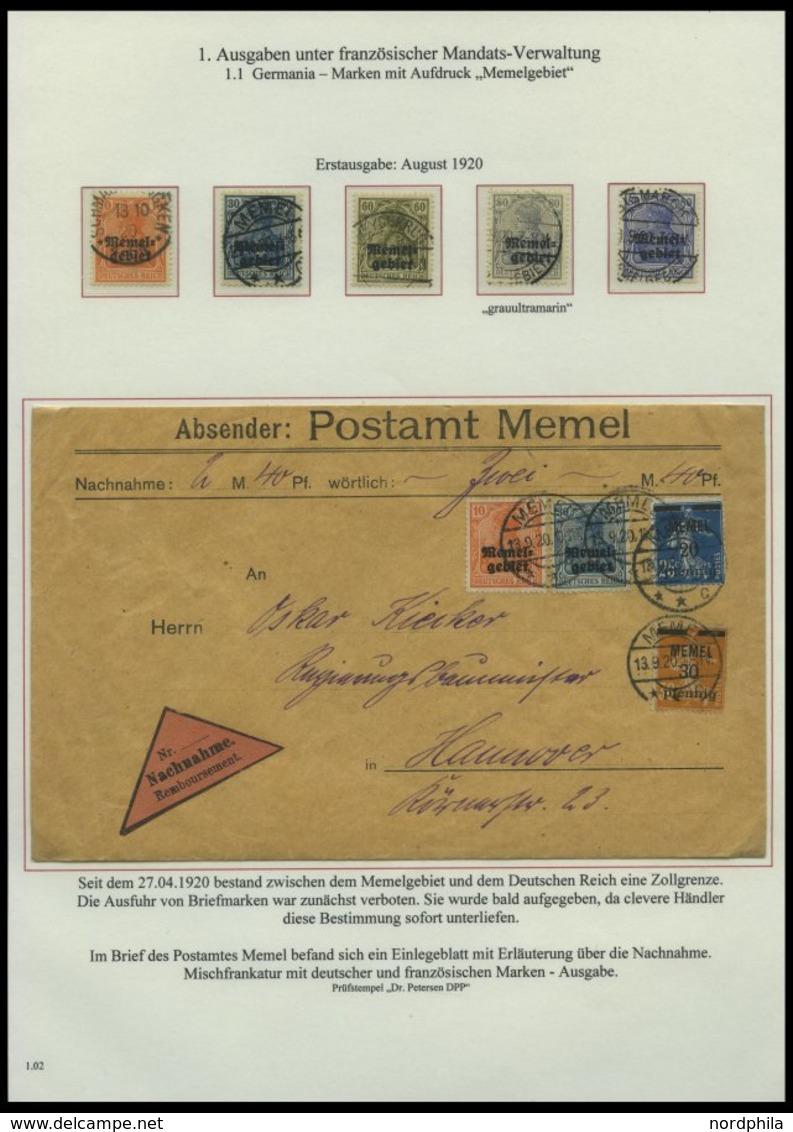 MEMELGEBIET O,Brief,BrfStk,**,* , Reichhaltige Saubere Teilsammlung Memel Von 1920-1922 Mit Vielen Besonderheiten, Bogen - Memel (Klaïpeda)