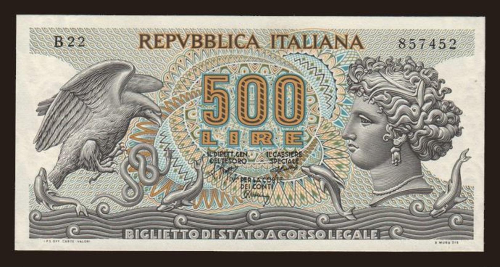 500 Lire, 1966 - Italy