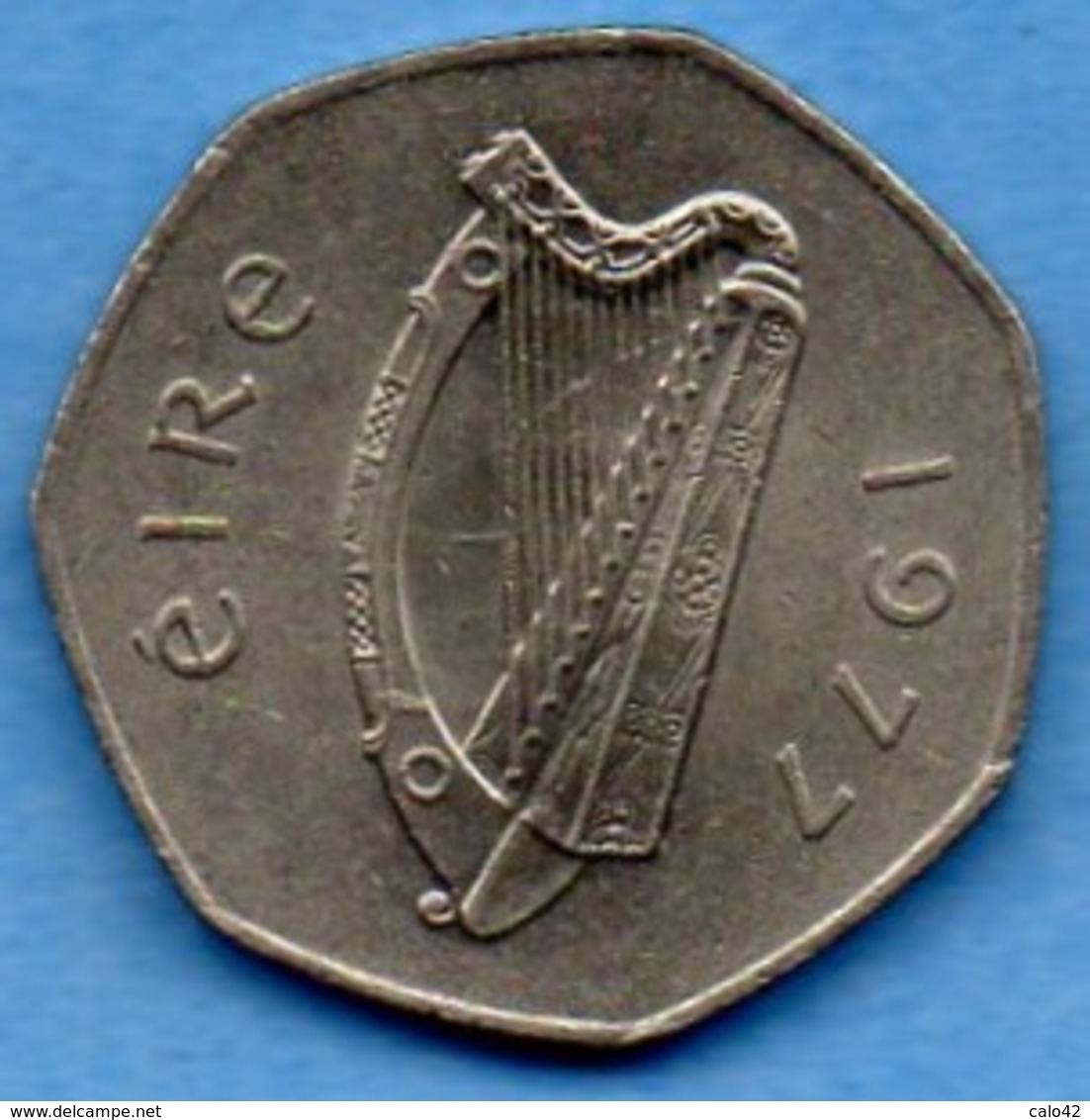 (r65)  IRLANDE / IRELAND / EIRE  50 Pence 1977 - Irlande