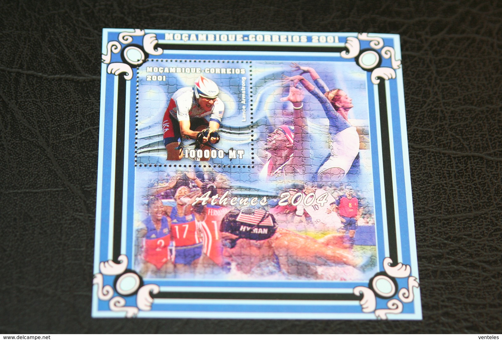 Mozambique 15.11.2001 Mi # Bl 93 2004 Athens Summer Olympics MNH OG - Zomer 2004: Athene