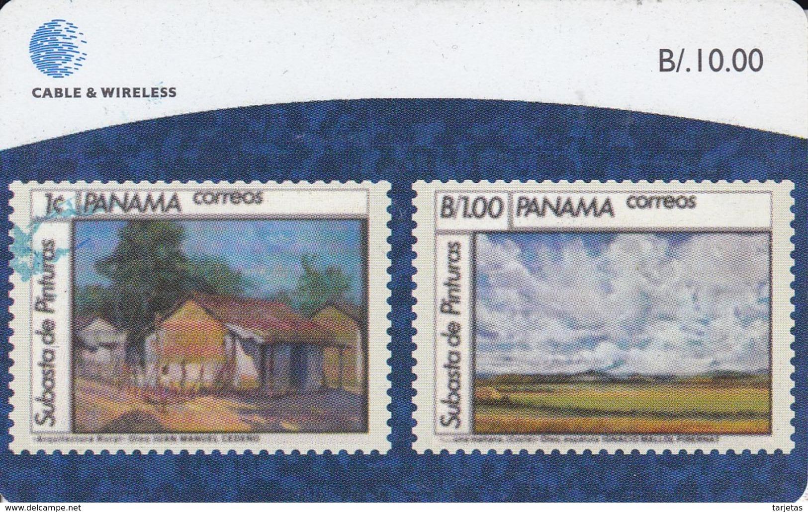 TARJETA DE PANAMA DE CABLE & WIRELESS DE B/10.00 (SELLO-STAMP) - Panamá