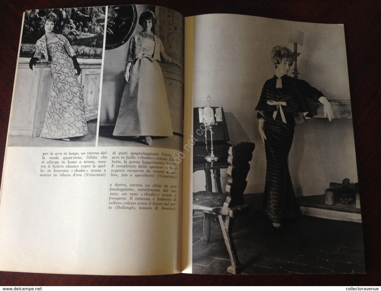 Rhodiatoce Nailon Terital Quaderno Della Moda Autunno Inverno 1961/1962 - Pubblicitari