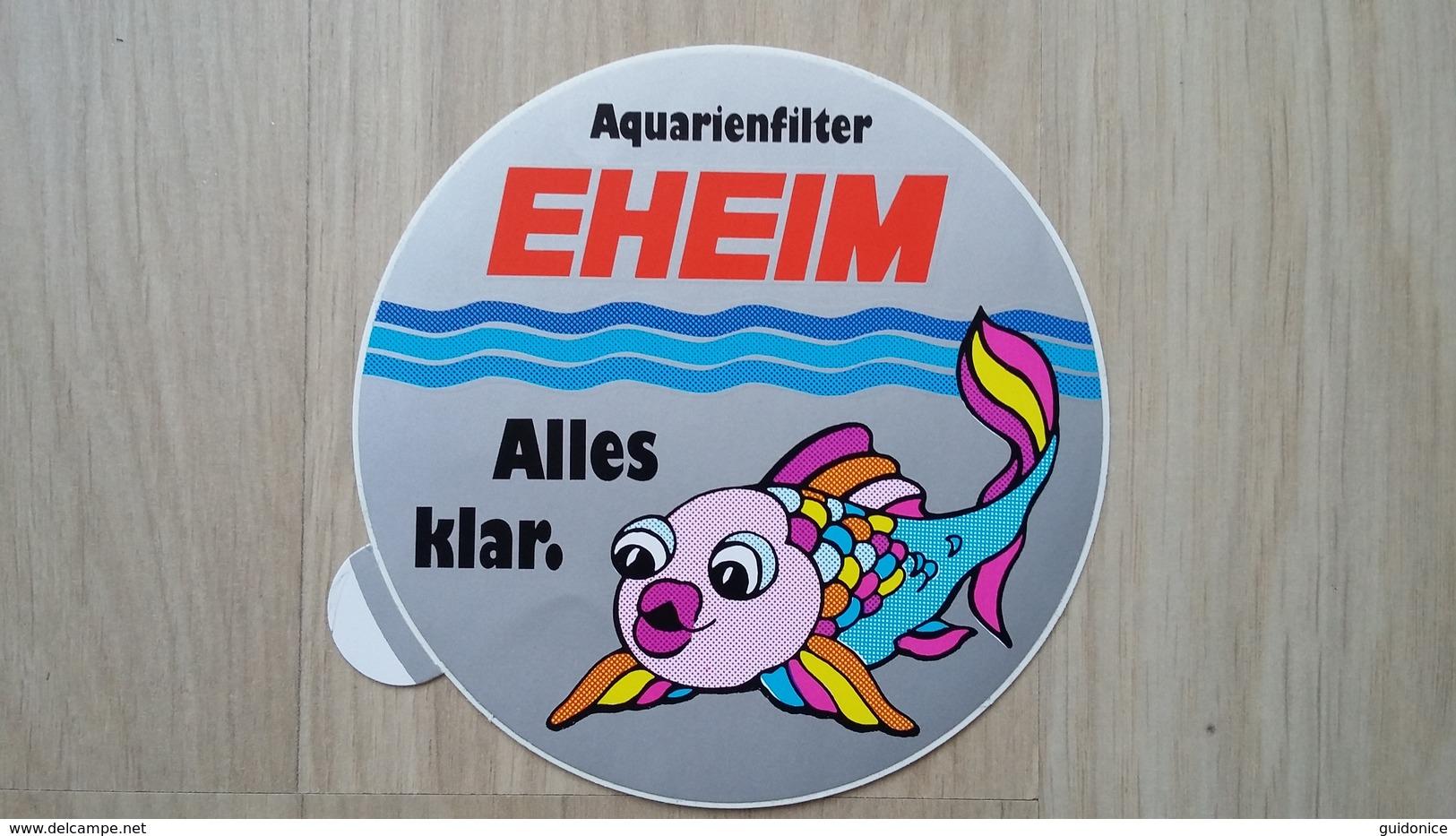 Aufkleber Mit Darstellung Eines Zierfisches (Aquaristik-Werbung) - Autocollants