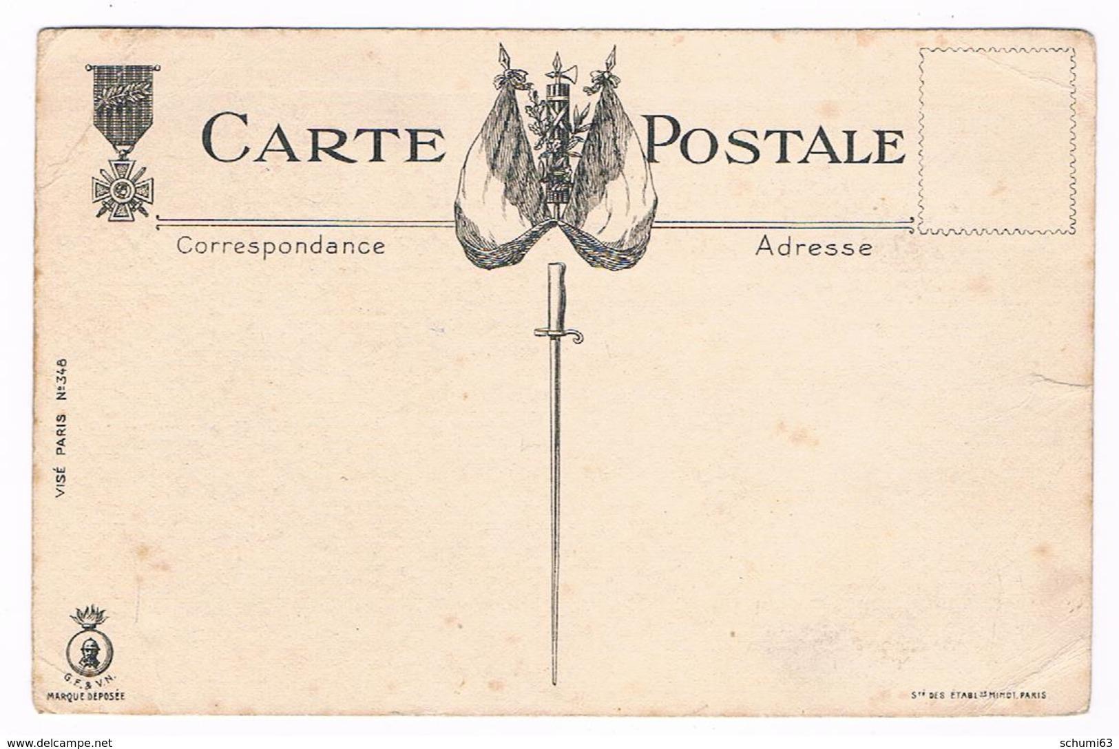 Cpa  Militaire  - Illustrateur  GABARD -  LE  CANTONNEMENT  DE  REPOS  - Dos Dessin Drapeau - Légion D'honneur - 5803 CH - Autres Illustrateurs