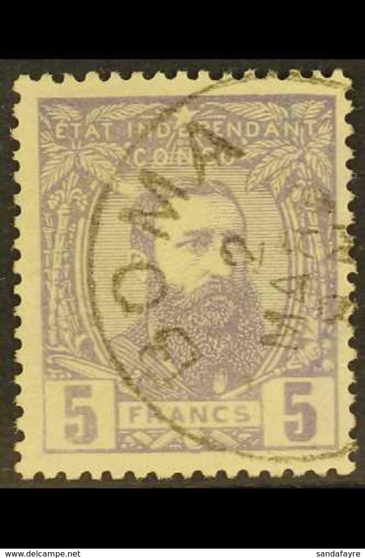 CONGO 1887 5f Violet, COB 11, Superb Boma Cds Used. For More Images, Please Visit Http://www.sandafayre.com/itemdetails. - Belgium