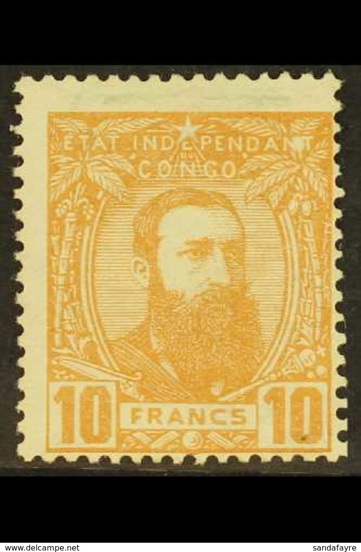 CONGO 1887-94 10f Dull Orange, COB 13, Fine Mint, Centred To Lower Right. For More Images, Please Visit Http://www.sanda - Belgium