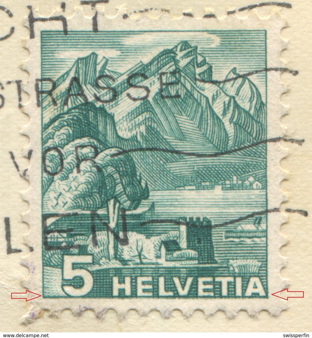 1932 - ABART Doppelprägung Auf Illustrierter Firmenkarte Der C.H.Boehringer Sohn A.-G., Nieder-Ingelheim A. Rh. - Variétés