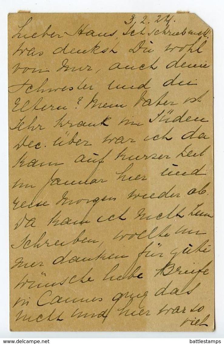 Netherlands 1924 Uprated Postal Card Huis Ter Heide To Wien, Austria - Postal Stationery