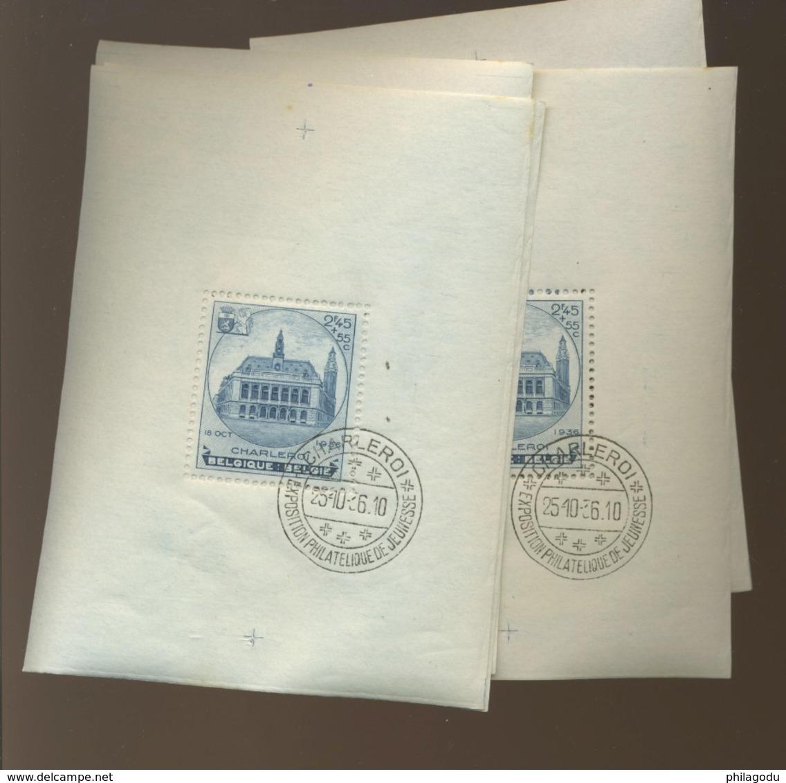 Bloc Charleroi. Oblitération Spéciale  Cote 75,- € - Blocks & Sheetlets 1924-1960