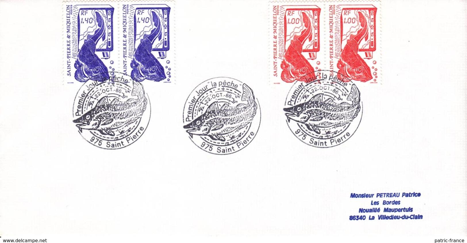 SAINT PIERRE Et MIQUELON - 1986 - 4 Lettres 1er Jour Yv 470 471 472 Et 474 - Lettres & Documents