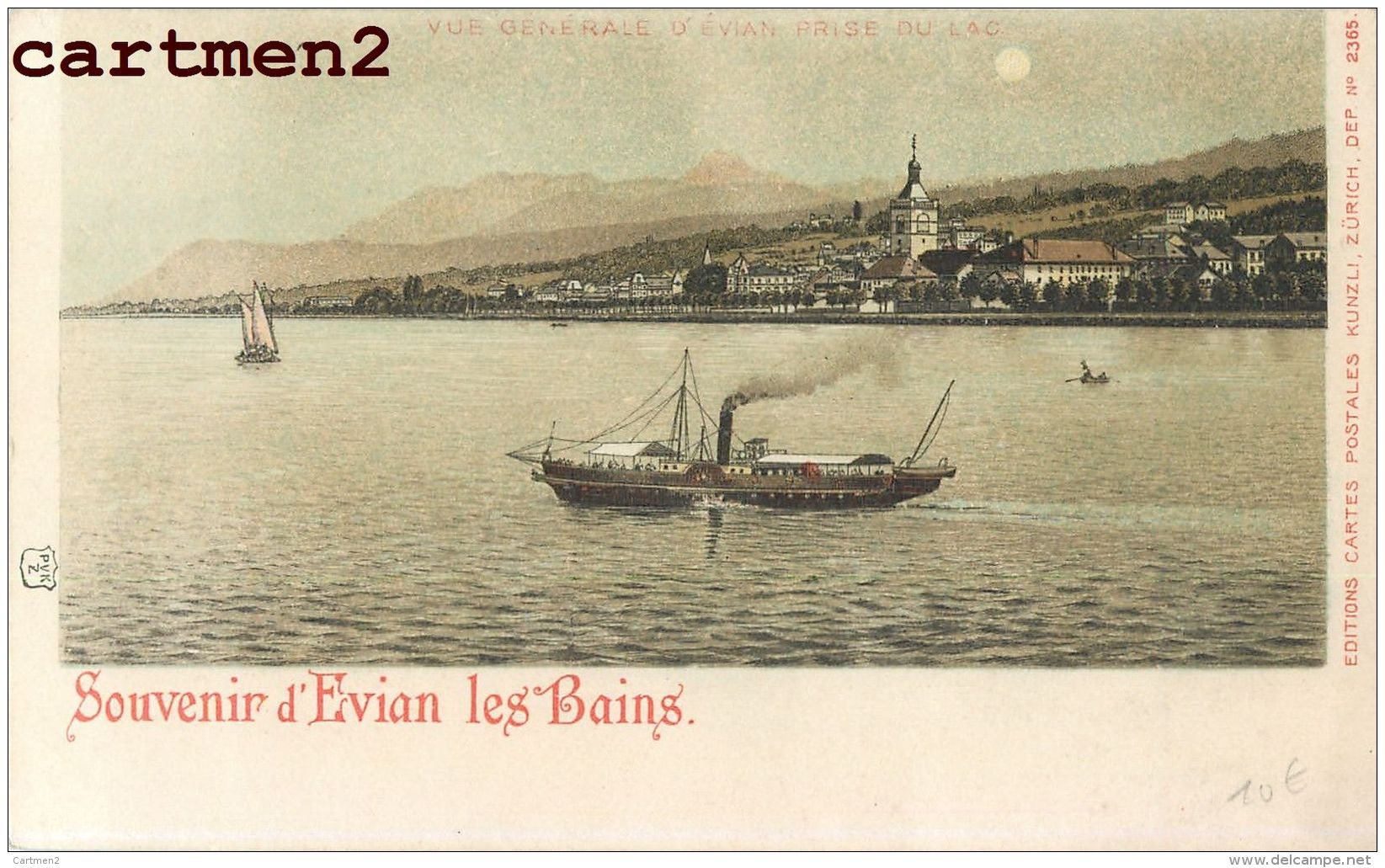JOLI LOT DE 19 CPA ILLUSTREES LAC LEMAN EVIAN-LES-BAINS ILLUSTRATEUR PUBLICITE LITHO GRUSS ART NOUVEAU 74 HAUTE-SAVOIE - Evian-les-Bains