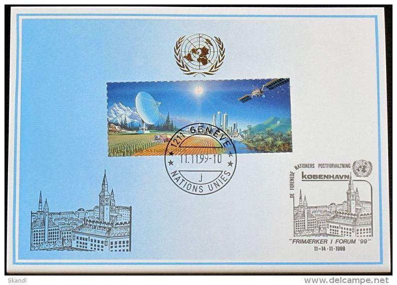 UNO GENF 1999 Mi-Nr. 304 Blaue Karte - Blue Card - Genf - Büro Der Vereinten Nationen