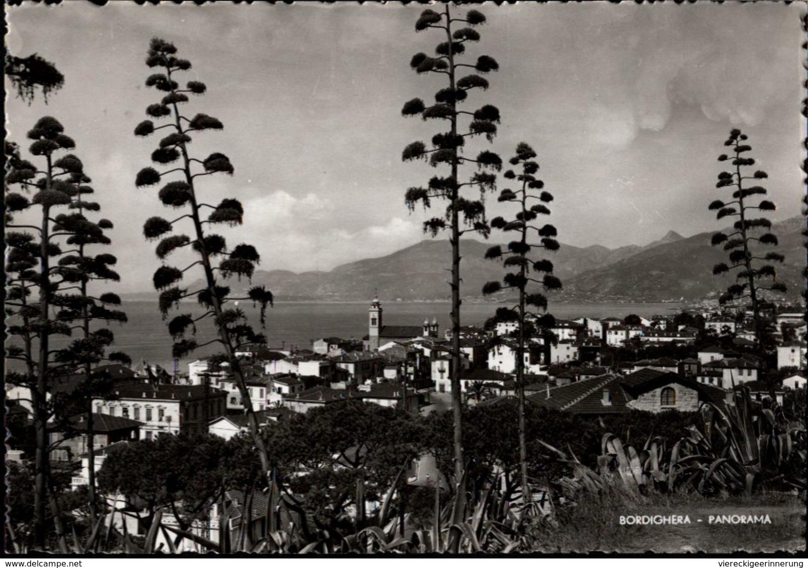 ! Ansichtskarte Bordighera, Italy - Imperia