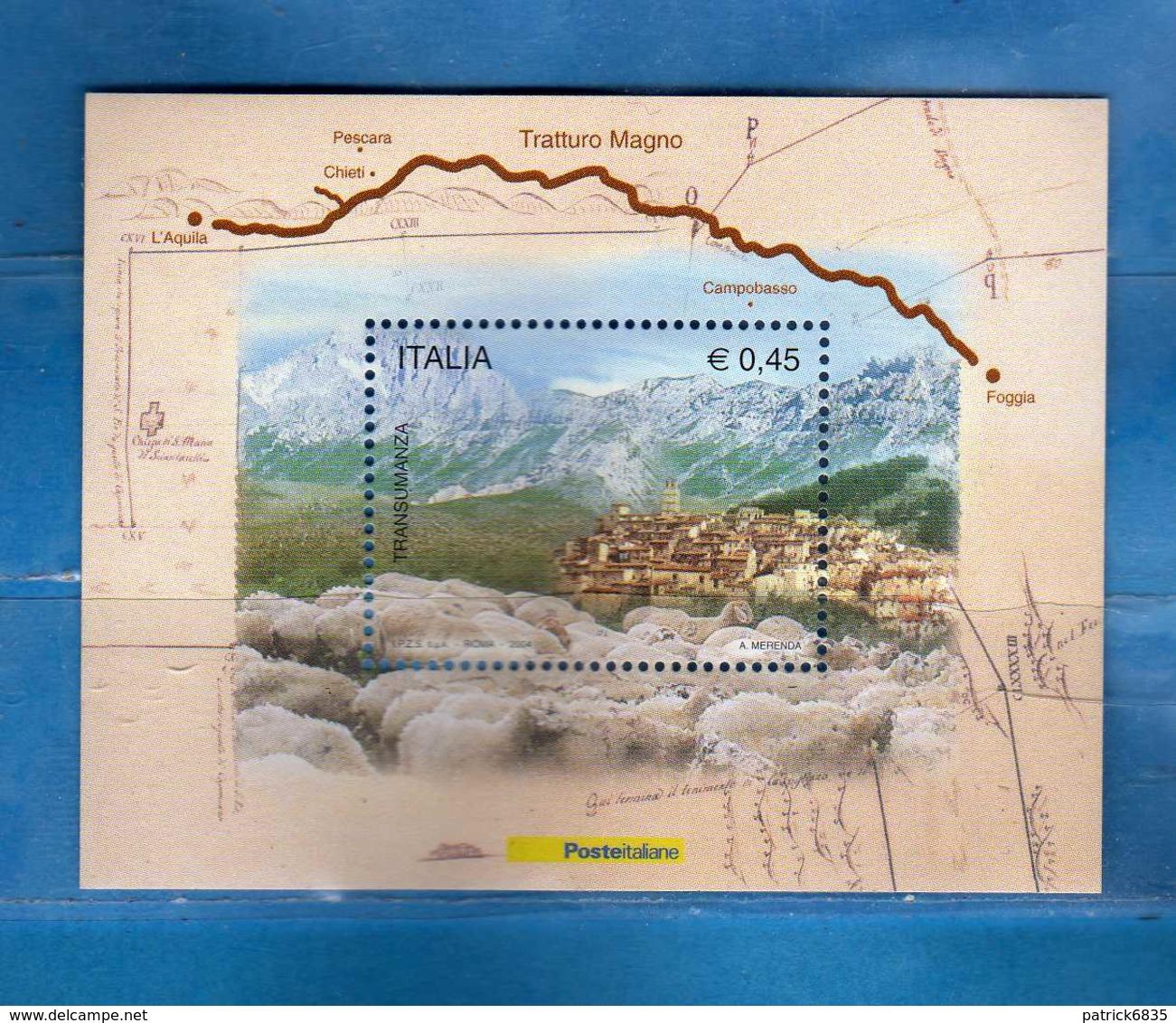 (St) Italia ** -  2004 - . Transumanza BF. 37.   MNH  Vedi Descrizione - 6. 1946-.. Repubblica