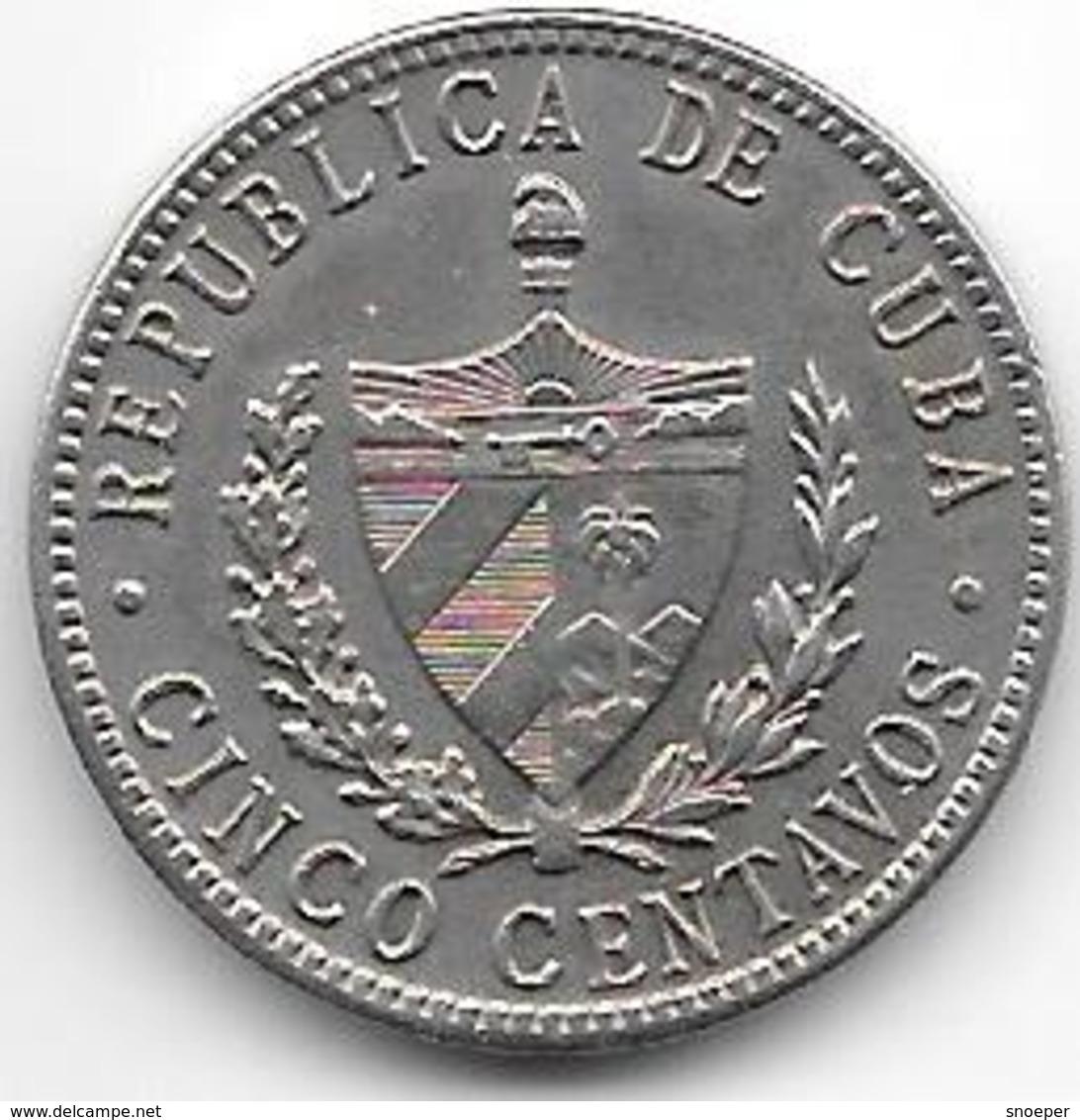*cuba 5 Centavos 1946  Km 11.3   Xf+ - Cuba