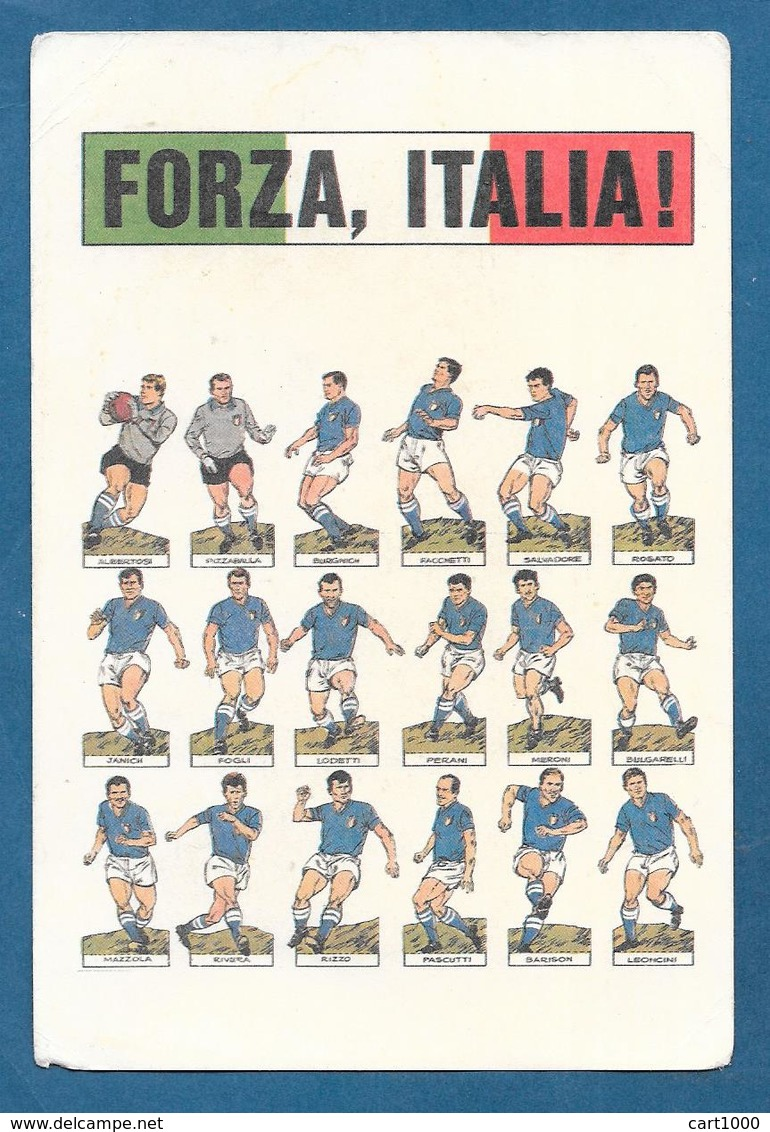 NAZIONALE ITALIANA FORZA ITALIA! ALBERTOSI, RIVERA, MAZZOLA..... NON VG. - Calcio