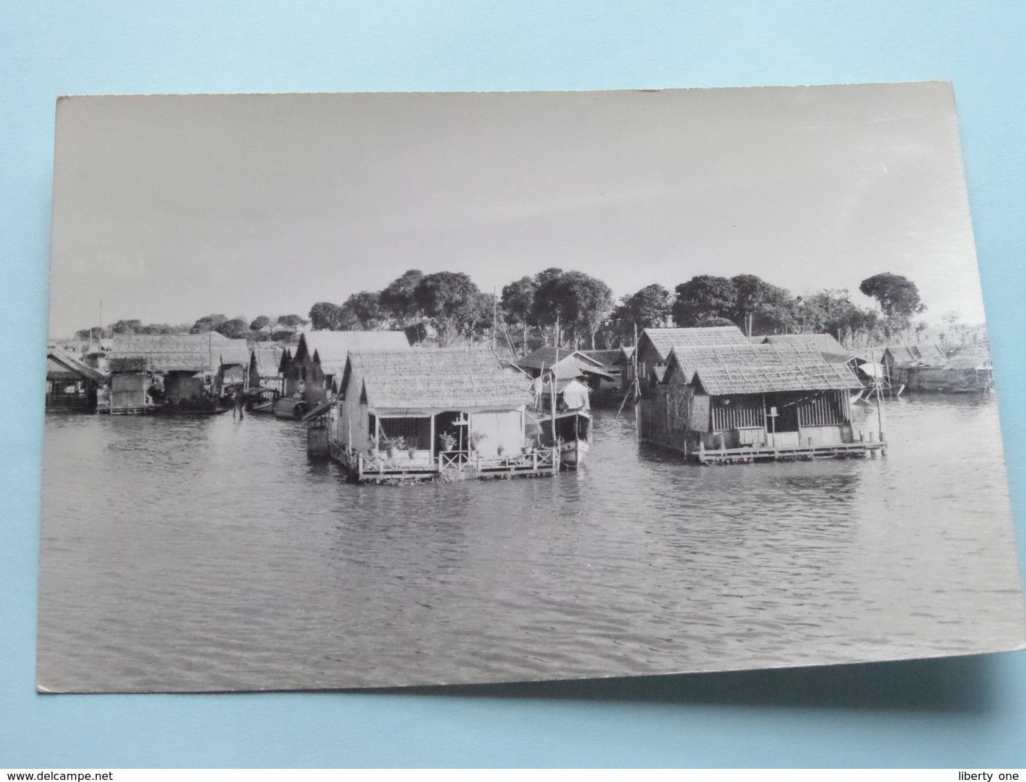 Aspects Du Cambodge - LE VILLAGE FLTTANT DE SNOCTROU ( Hamre ) Anno 1953 ( Zie Foto Details ) ! - Cambodge