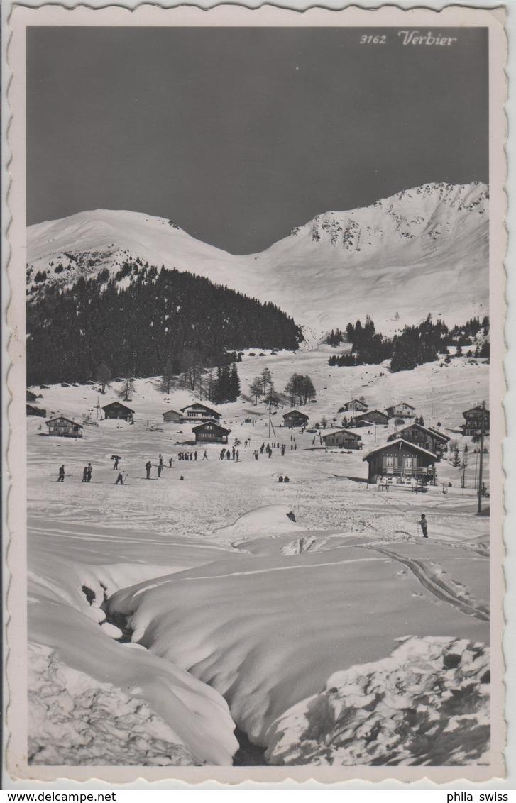 Verbier - Ski-Uebungshang, Animee Im Winter En Hiver - Photo: Perrochet - VS Valais