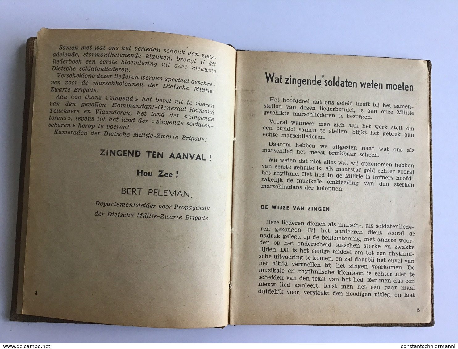 Het Lied Der Brigade Door Bert Peleman - Livres