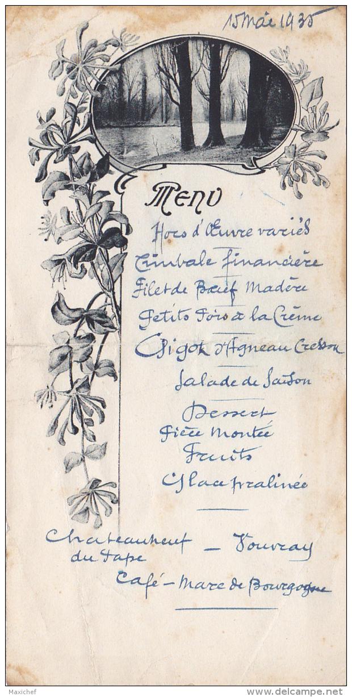 Menu Illustré De 1er Communion De André FAGOT, Le 15 Mai 1935 - Menus