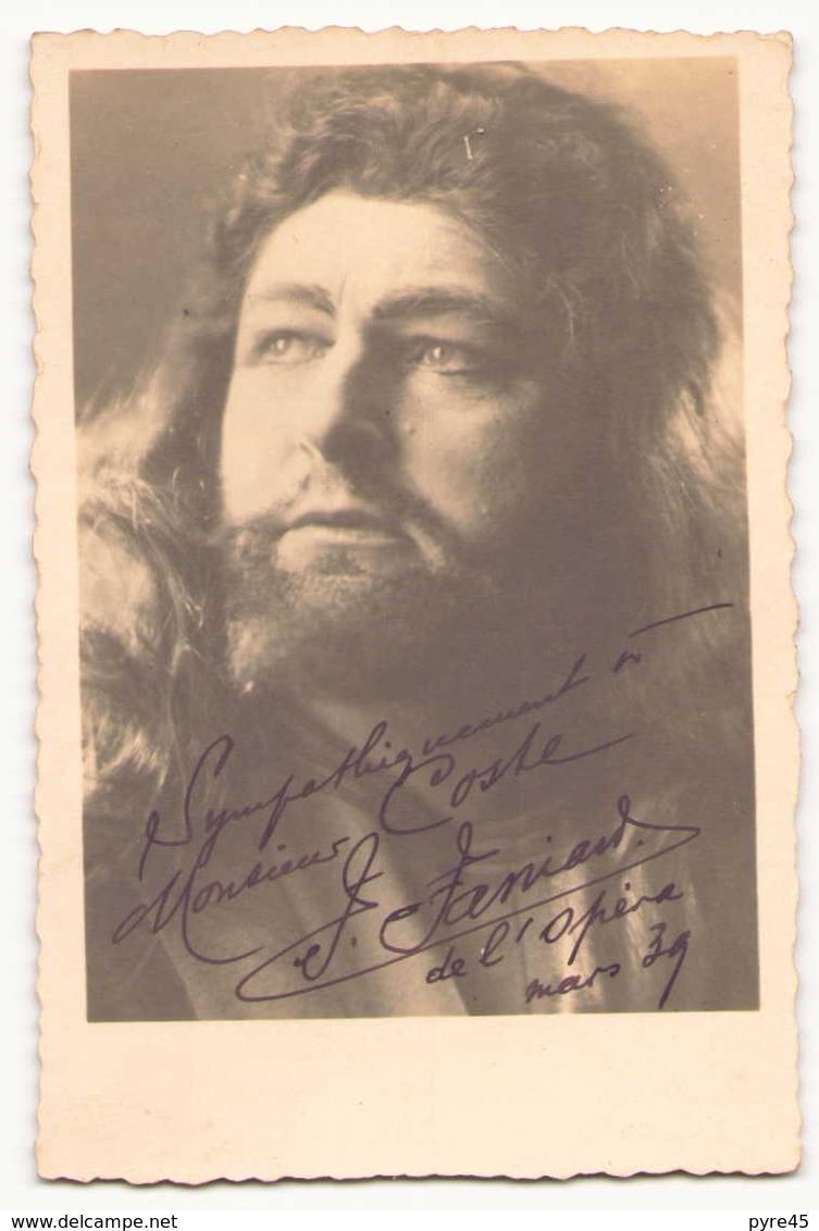 Photo Dédicacée ( 14 X 9 Cm ) D'un Chanteur Lyrique ?? Mars 1939 - Dédicacées