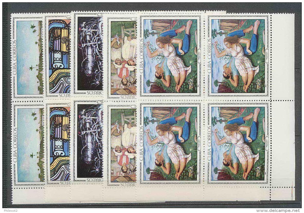 187 Cuba ** MNH N° 1086/1090 Tableau (tableaux Painting) BLOC 4 COTE 40 EUROS - Ungebraucht