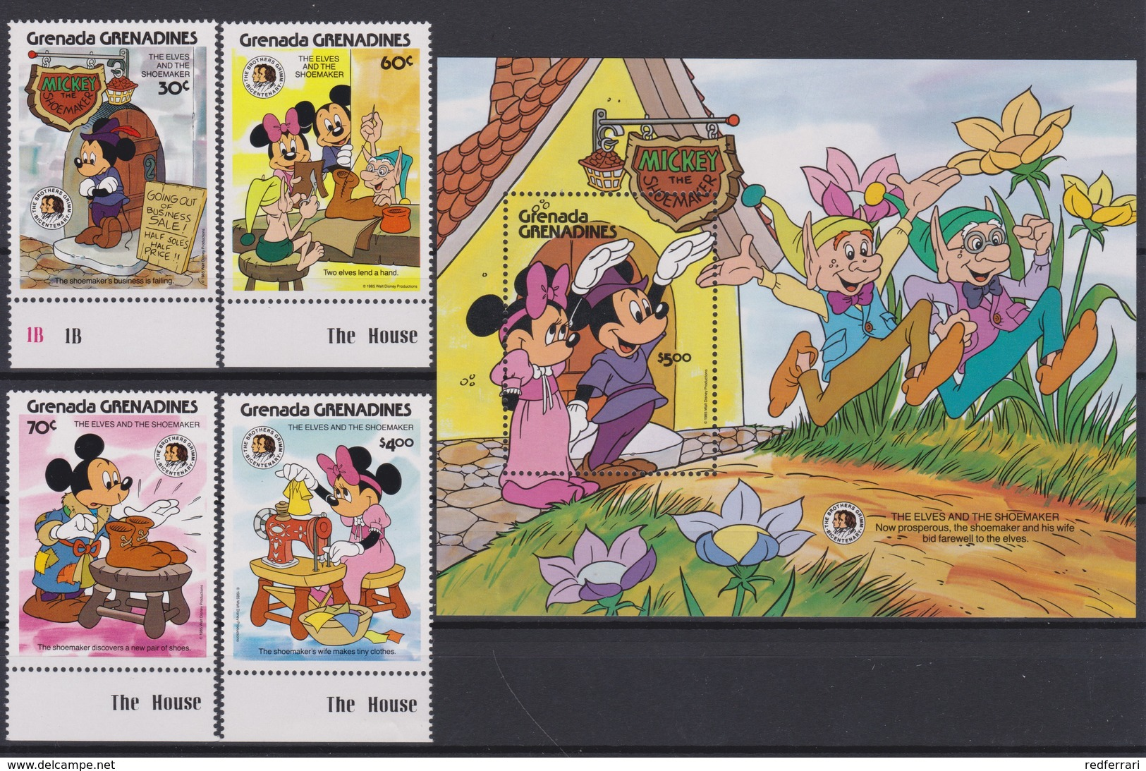 2276  WALT DISNEY - GRENADA  GRENADINES  ( The Elves And The Shoemaker ) Bicentenary Of The Brothers Grimm  . - Disney