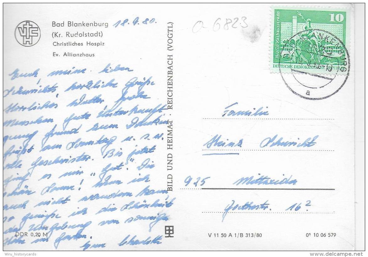 AK 0938  Bad Blankenburg ( Chridtl. Hospiz ) - Ev. Allianzhaus / Ostlagie , DDR Um 1980 - Bad Blankenburg