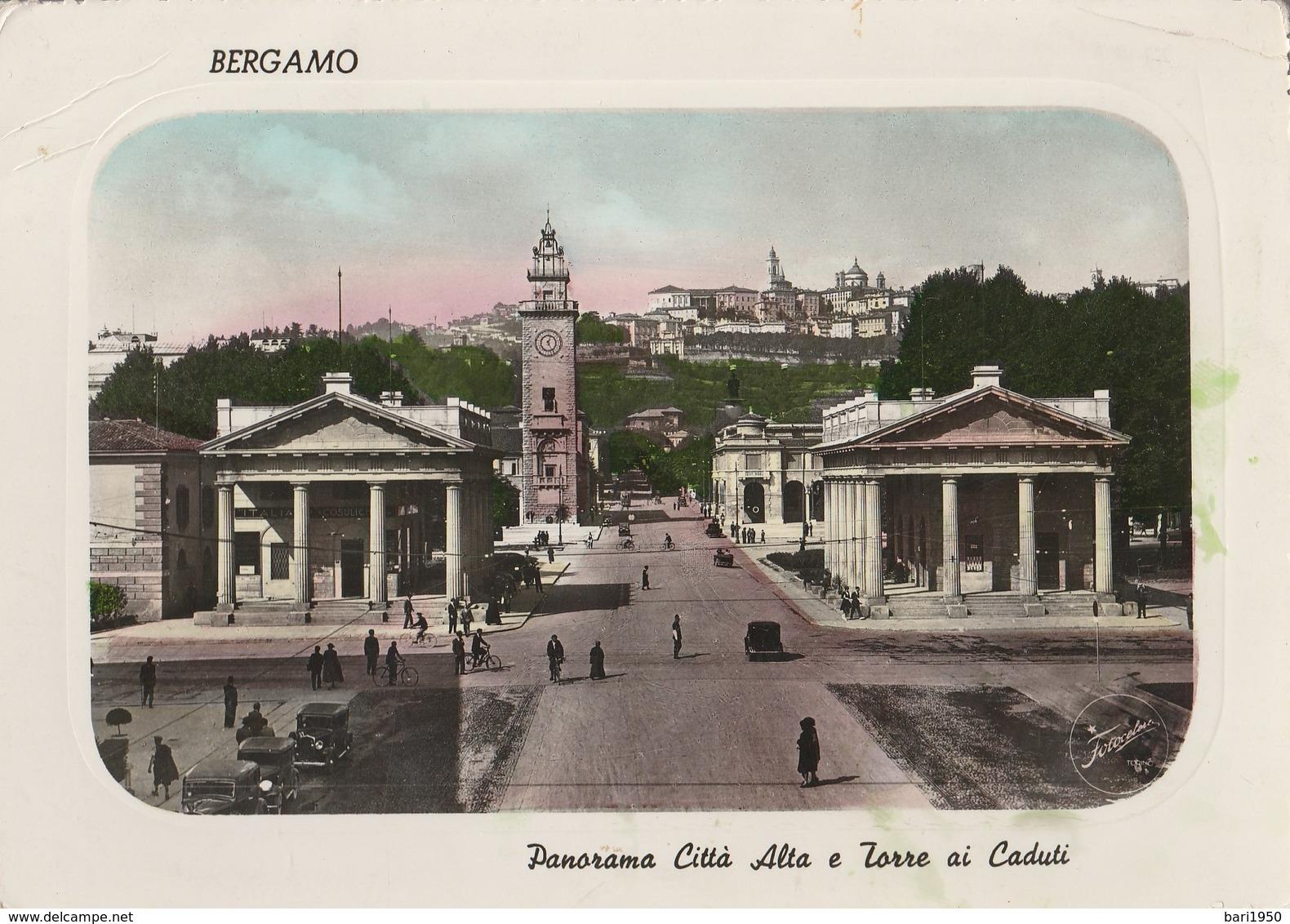 Bergamo - Panorama Città Alta E Torre Ai Caduti - Bergamo