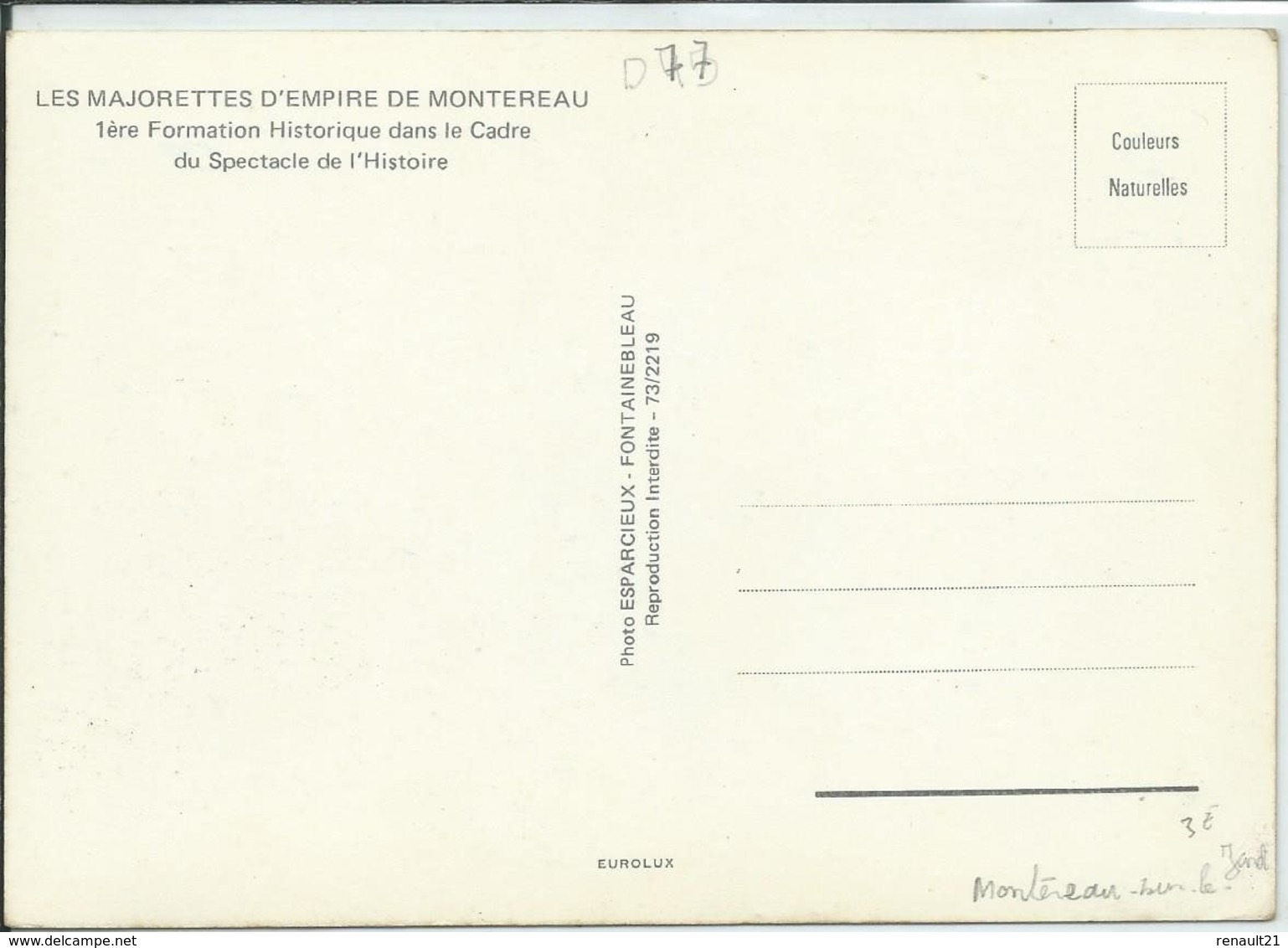 Montereau-Les Majorettes D'Empire De Montereau (Très Légère Corne D'angle Bas à Gauche,voir Scan) (CPM) - Montereau