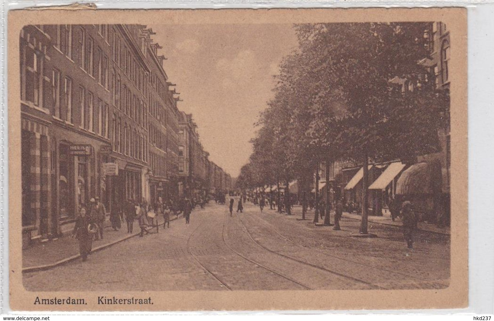 Amsterdam Kinkerstraat Levendig Tram # 1924    1490 - Amsterdam