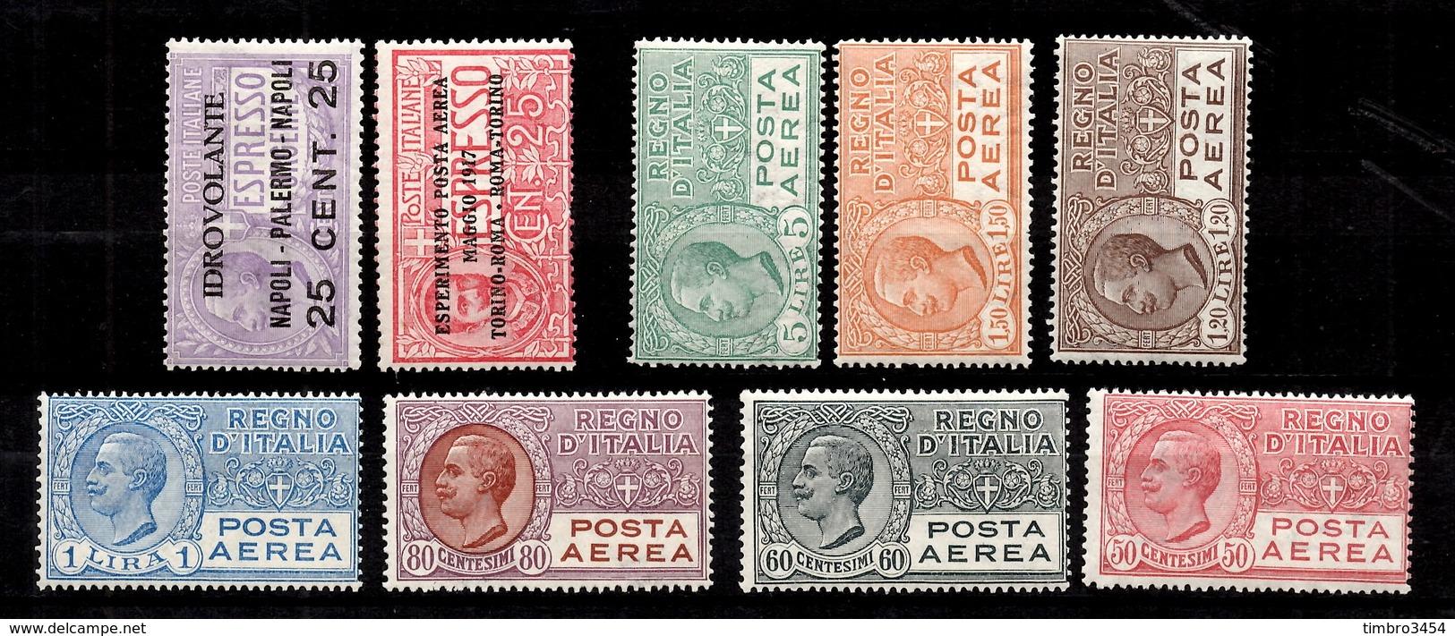 Italie Poste Aérienne YT N° 1/9 Neufs *. B/TB. A Saisir! - 1900-44 Vittorio Emanuele III