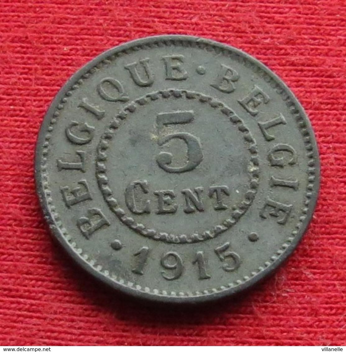 Belgium 5 Centimes 1915 KM# 80  Belgique Belgica Belges - Belgique